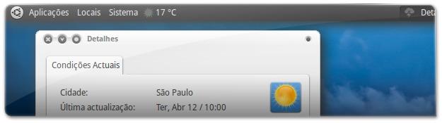 Informação meteorologica no ubuntu
