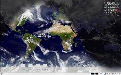 Ubuntu com o Wallpaper da terra em tempo real