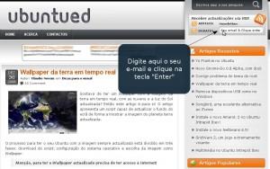 Subscreva o Ubuntued por email