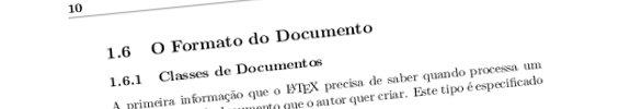 Exemplo de uma pagina produzida em LaTeX