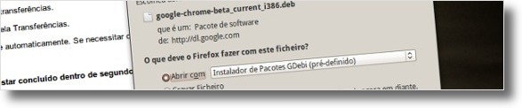 A guardar o instalador do Google Chrome