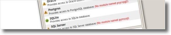 CrunchyFrog sem modulos para a maioria das bases de dados
