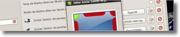 A seleccionar canto do monitor para activar efeito do compiz