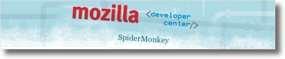 Homepage do SpiderMonkey