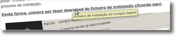 A fazer download do Compiz Switch