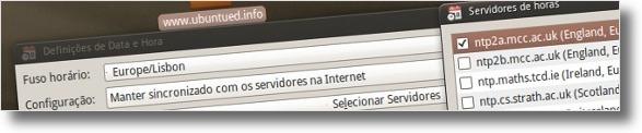 A seleccionar servidor de relogio atomico