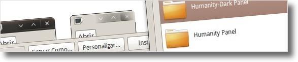 A seleccionar o pacote de ícones que instalou