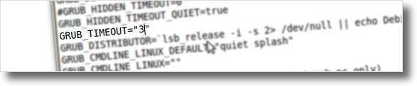 A editar tempo de espera do Grub2