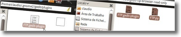 A mover ficheiros do plugin