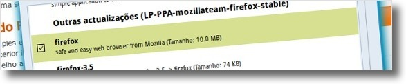 A actualizar o Firefox para a versao 3.6