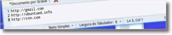 Lista de paginas a abrir automaticamente