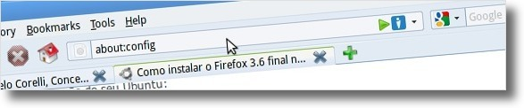 A aceder as configuracoes do Firefox 3.6