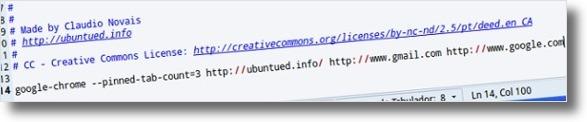 A definir 3 pagians a abrir com o Google Chrome