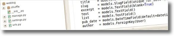 Projecto Django é constituido por vários ficheiros (MVC architecture)