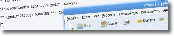 A abrir ficheiro de configuracao do conky