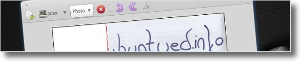 Simple Scan em processo de digitalização