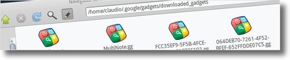 Pasta onde deverá colocar os gadgets que fizer download!