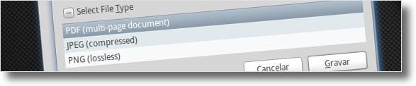 O SimpleScan permite gravar várias páginas num pdf