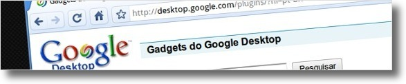 Site do Google Desktop