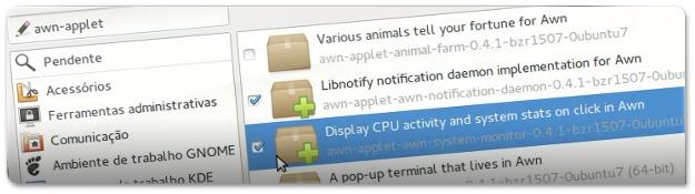 A adicionar applets ao AWN