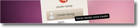Login do Ubuntu sem avatar