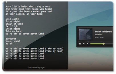 Lyrics no CoverGloobus no Ubuntu