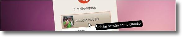 Login com um avatar personalizado