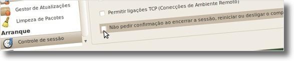 A desligar avisos de sair do Ubuntu através do Ubuntu Tweak