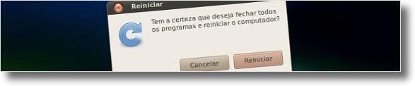 Aviso ao reiniciar o Ubuntu