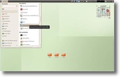 Cardapio no Ubuntu