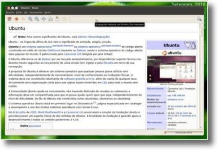 Ubuntu com a wikipedia sem ligação à Internet