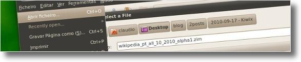 A abrir ficheiro ZIM da wikipedia