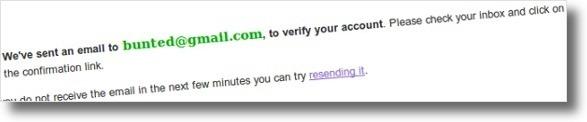 Confirme o registo através do link enviado no email