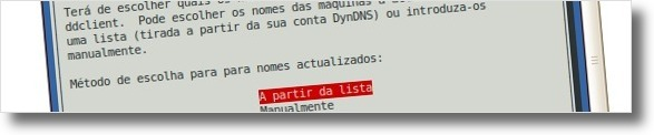 Deixe o ddclient procurar a lista de domínios