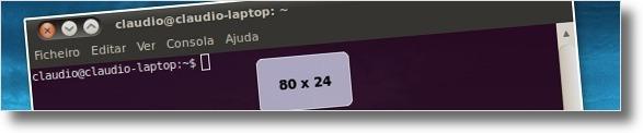 Tamanho do terminal por padrão no Ubuntu