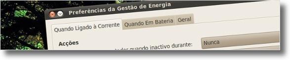 Gestão de energia distingue o laptop com bateria e sem bateria!