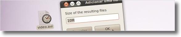 A definir tamanho dos ficheiros gerados