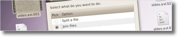 A juntar ficheiros gerados da divisão do HJSplit