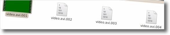 Junte ficheiros com extensão 001, 002, 003 etc!