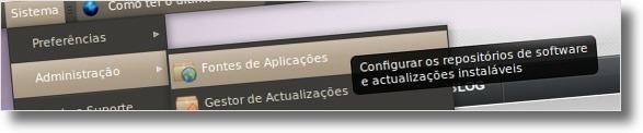 A abrir a aplicações Fontes de Aplicações