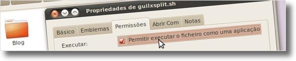 A alterar permissões para ficar executável