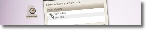 A dividir ficheiro com o GuiLxSplit