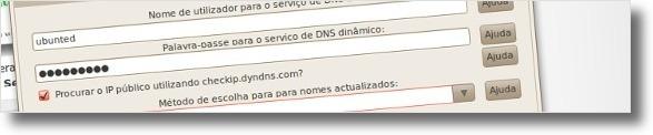 A preenchar campos conforme o nosso registo no DynDNS