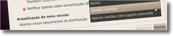 Modifique as opções de actualização de distribuição