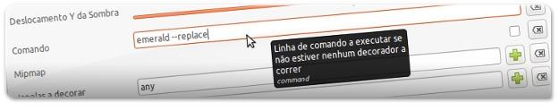 A configurar o arranque do Ubuntu para ter o Emerald