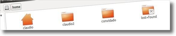 Partição /home depois da instalação do Ubuntu