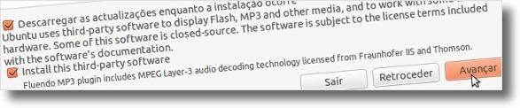 Segundo passo da instalação do Ubuntu