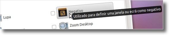A desligar a funcionalidade Negativo