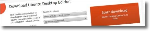 A fazer download da versão normal do UBuntu