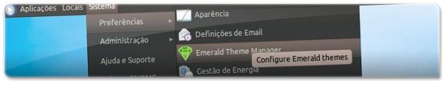 A arrancar o configurador do Emerald